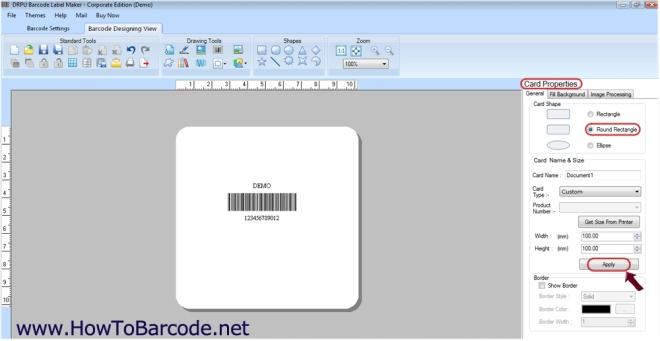 barcode shape