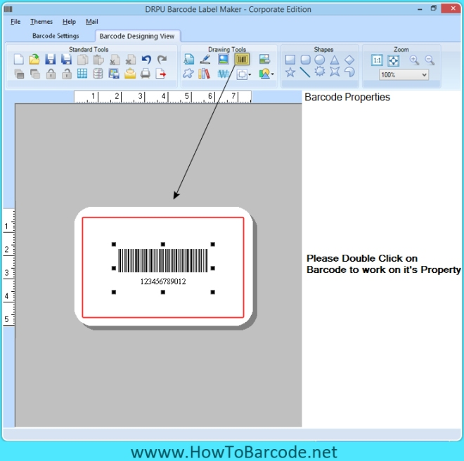 Barcode-Design-Ansicht