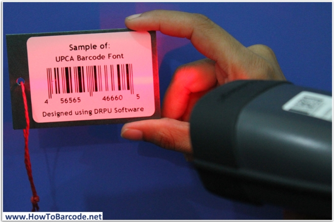 barcode text font scanning