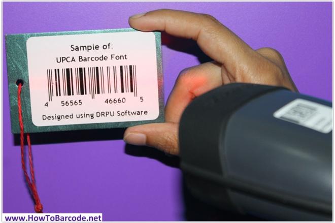 upca barcode font