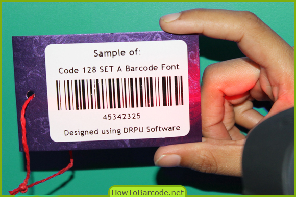 Code 128 SET A Font Scanning