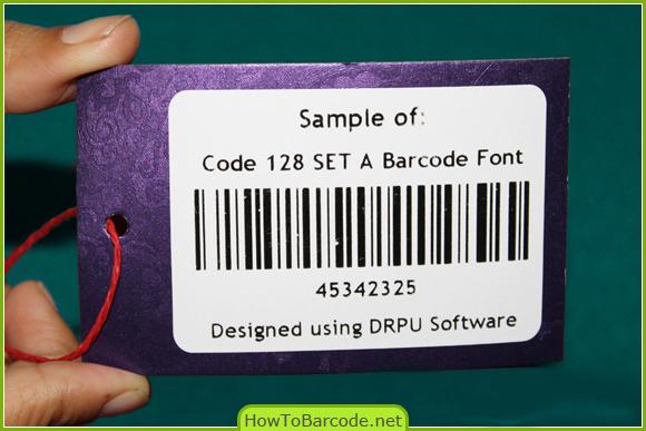 Code 128 SET A Font